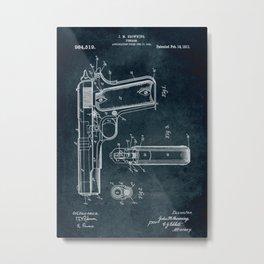 1910 - Firearm Metal Print