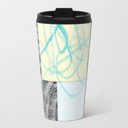 collage with map Travel Mug