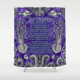 The Kraken (Purple) Shower Curtain