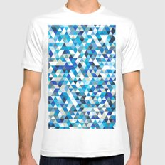 Icy triangles Mens Fitted Tee White MEDIUM