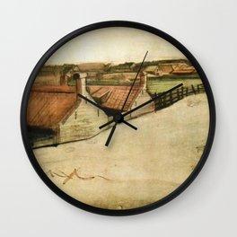 View of Scheveningen, spire in background Wall Clock