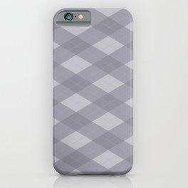 Pantone Lilac Gray Argyle Plaid Diamond Pattern iPhone Case