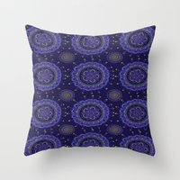 rave Throw Pillows featuring Rave by Katie Duker