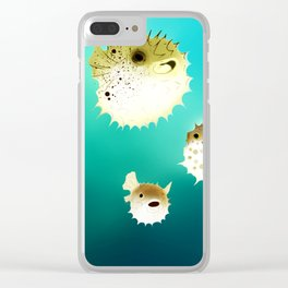 PUFFERFISH Clear iPhone Case