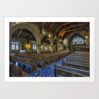 christ Art Prints featuring Christ Church by Ian Mitchell