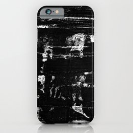 Distressed Grunge 102 in B&W iPhone Case