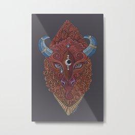 Bison Totem Metal Print
