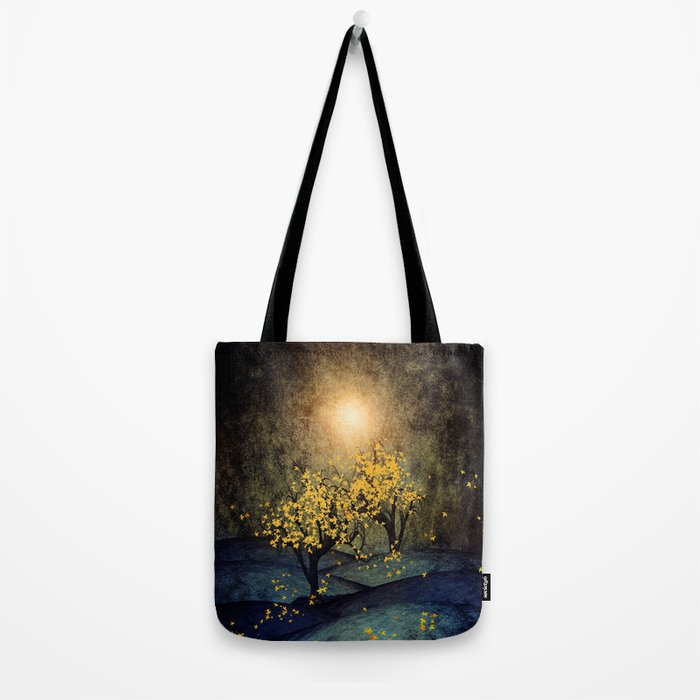 Yellow Autumn Tote Bag