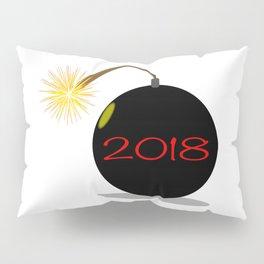 Cartoon 2018 New Year Bomb Pillow Sham