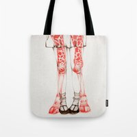 wildlife Tote Bags featuring WILDLIFE IX by The White Deer