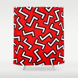 80s Red Shower Curtain