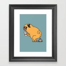 Coffee makes me poop Framed Art Print