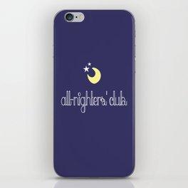 all-nighters' club iPhone Skin