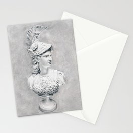 Athena Bust Sculpture Stationery Cards