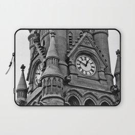 B&W Clock Tower Laptop Sleeve