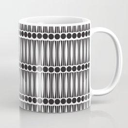 Art Deco dots and lines pattern Coffee Mug