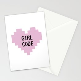 GIRL CODE Stationery Cards