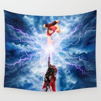 thor Wall Tapestries featuring THOR vs RALPH by Raisya