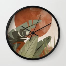 Tropical Leaf- Abstract Art 10 Wall Clock