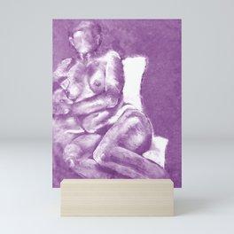 Lounging in Purple Mini Art Print