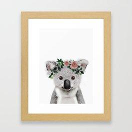 Koala Print Framed Art Print