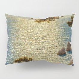 Classical Masterpiece 'Amalfi Coast, Italy' by Ivan Fedorovich Choultse Pillow Sham