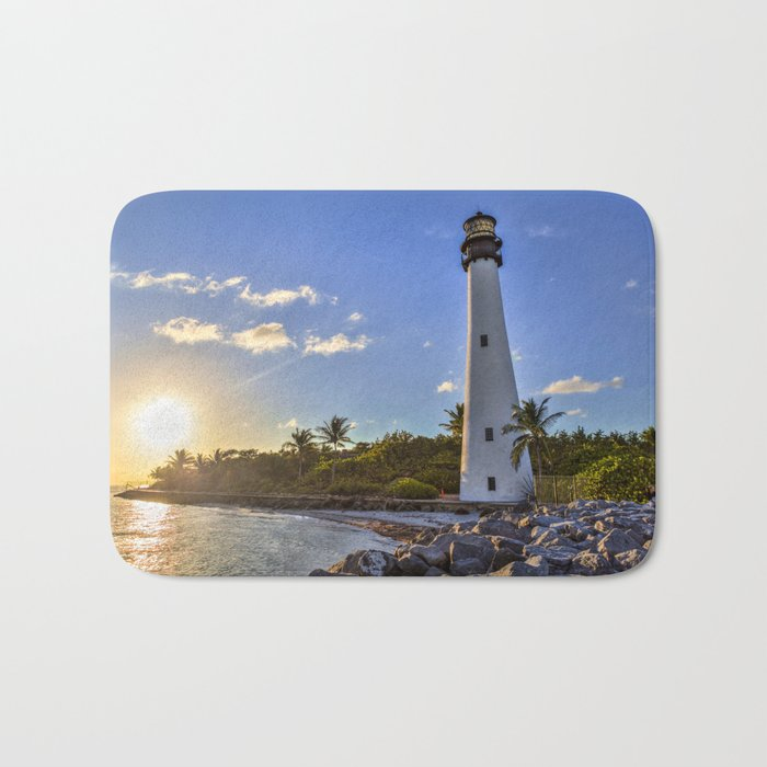 charming Lighthouse Bath Mats Part - 5: sun in lighthouse Bath Mat