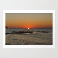 Gulf Sunrise in October Art Print