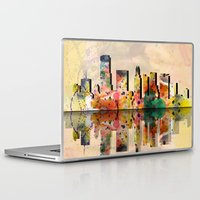 miami Laptop & iPad Skins featuring miami  by mark ashkenazi