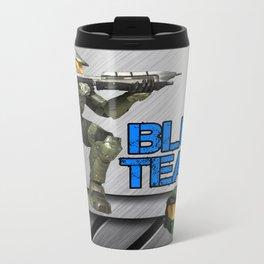 Blue Team Metal Travel Mug