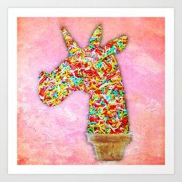 Sprinkled Unicorn Ice Cream Art Print