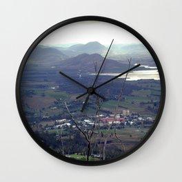 Fields outside Hobart Wall Clock