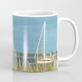 Sailboat Moored in Newport Coffee Mug