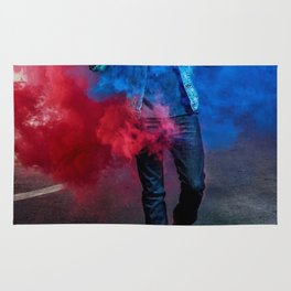 Tom Holland Blue Red Spray Rug