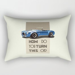 The Classic Game Cheat Code: How do you turn this on Funny Blue Cobra Car Rectangular Pillow