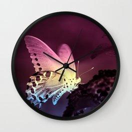 Swallowtail Gradient Wall Clock