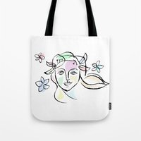 goddess Tote Bags featuring Goddess by G_Stevenson