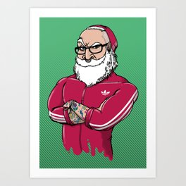 MR.SANTA ( Movember Edition ) Art Print