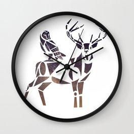 deer & owl Wall Clock
