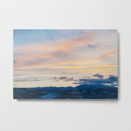 Winter Sunset - Casper, WY Metal Print