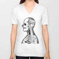 gorillaz V-neck T-shirts featuring Demon Days ~ A. by Sára Szabó
