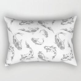 Cute gray white watercolor oriental koi fish pattern Rectangular Pillow