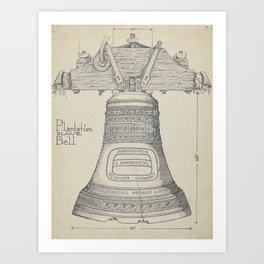Fontainbleau Plantation Bell - Thomas Byrne - Vintage Architecture Art Print