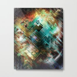 Robot flower Metal Print