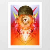 madonna Art Prints featuring Madonna by Matt Bryson