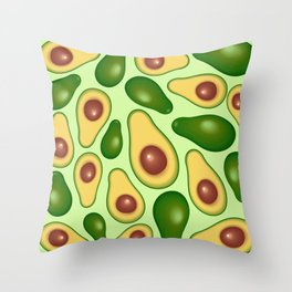 Avocado Juicy Pattern Throw Pillow