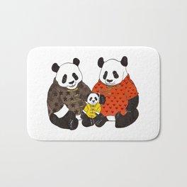 The panda family Bath Mat