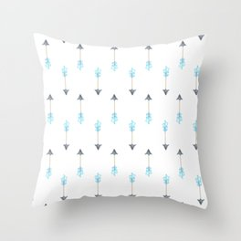 Blue Arrow Throw Pillow
