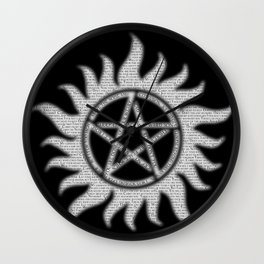 Carry On Supernatural Pentacle Wall Clock