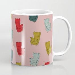 Seventies Armchair Pattern - Version 1 #society6 #seventies Coffee Mug